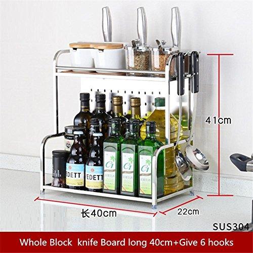 HomJo 304Edelstahl Küche Regal 2Schicht Supplies Geräte Multifunktional Aufbewahrung Gewürz Regal (Nicht Enthalten die Produkte angezeigt) 16 -