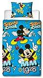Disney Mickey Mouse Cool Repeat Print Design Set Copripiumino Singolo, Multicolore