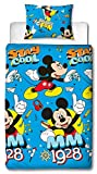 Disney Juego de edredón Mickey Mouse, Estampado, Individual
