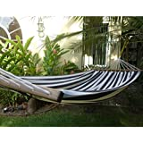 """HAMMOCK """"AMAZONAS"""" WITH POLE - UP TO 120KG - COTTON HAND MADE - FAIR TRADE (Variation 10)"""