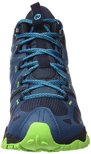 MerrellGrassbow Mid Sport Gtx - Camminata nordica Uomo Blu (Bleu (Bright Blue))