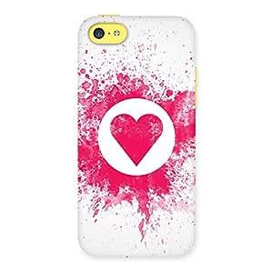 Heart Splash Back Case Cover for iPhone 5C