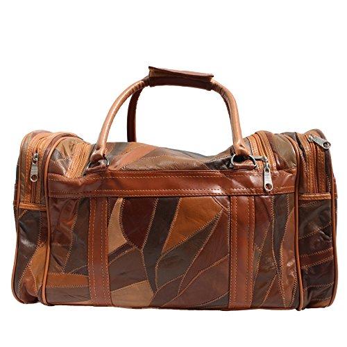 CTM Unisexe Sac Voyage avec bandoulière en cuir intérieur - 46x29x23 Cm