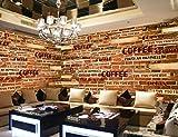 LONGYUCHEN Benutzerdefinierte 3D Seide Wandbild Tapete Kreative Muster Englisch Mauer Geeignet Für Schlafzimmer Wohnzimmer Tv Hintergrund Wand Dekoration Wandbild,290Cm(H)×480Cm(W)