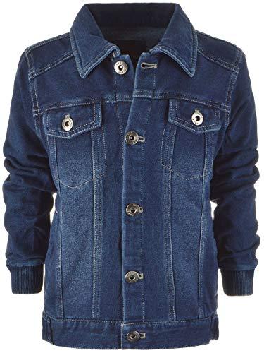 BEZLIT Kinder Jungen Jeans-Jacke Strech Thermo-Jacke Sweat-Jacke 22873 Blau 104 -