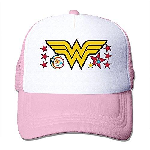 Hats Custom Wonder Woman Gorras béisbol - Rosado