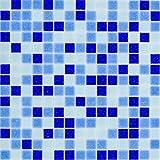 Glasmosaik Fliesen dunkelblau blau Mix Wand Boden Dusche WC Küche   10 Matten   Art: es-27217_f