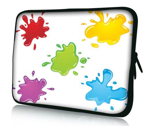 Luxburg® Design Laptoptasche Notebooktasche Sleeve für 10,2 Zoll (auch in 10,2 Zoll   12,1 Zoll   13,3 Zoll   14,2 Zoll   15,6 Zoll   17,3 Zoll) , Motiv: Farbkleckse
