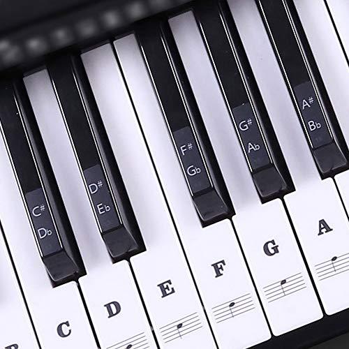 B5645ells Elektronische Tastatur Klavier Musik transparent PVC Dekoration 37/49/54/61/88 schwarz