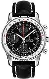 Breitling Navitimer 1 Chronograph 41 Reloj de Acero para Hombre con Correa de Piel Negra A13324121B1X1