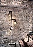 ZXLDD Vintage Stehlampe Loft Amerikanischen Retro-Stehleuchte Kreative Eisen Wohnzimmer Schlafzimmer Bett Wasser Wasser Lampe Industrielle Wind Beleuchtung Haushaltslampen