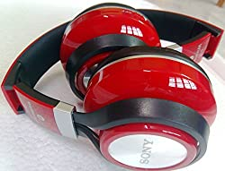 sony S110 Bluetooth Wireless Headphone with High Bass and inbuilt FM(Red)
