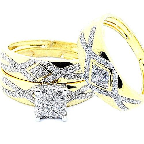 midwestjewellerycom-anelli-da-donna-in-oro-giallo-10-k-1-2cttw-nozze-di-diamante-motivo-suo-e-suo-se