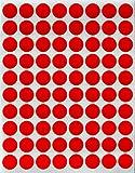 Farbcodierung Etiketten Rot 13mm runde Punkt Aufkleber–inverschiedenen Farben Größe 1,3cmDurchmesser Klebepunkte 1200 Vorteilspack von Royal Green