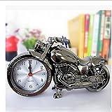 SUNNY KEY-Uhr@Quarz Uhr coole Wecker Desktop-Timer Motorrad Design Uhren , black