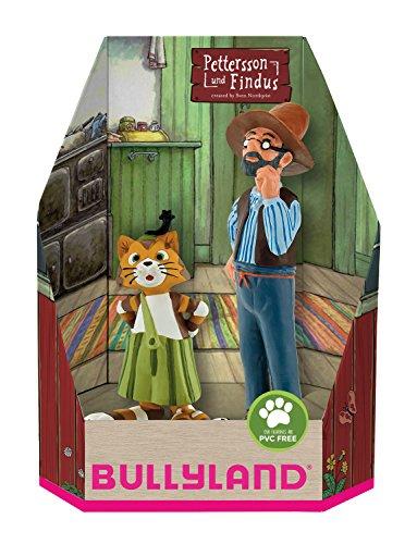 Bullyland 46005 - Pettersson und Findus in Geschenk Box Spielfigurenset, 2 teilig (Handpuppe Mädchen Kostüm)