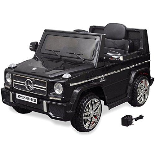RC Auto kaufen Kinderauto Bild: vidaXL Kinderauto 2 Motoren 2x15W Schwarz Kinder Elektroauto Kinderfahrzeug*