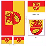 UB Aufkleberbogen Landkreis Alzey - Worms Set Flagge/Fahne (Autoaufkleber)