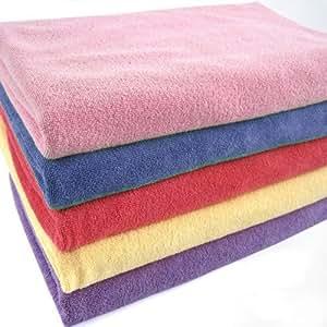 2x Blue Microfibre bath towels for sports, travel, gym, bath,multifunctional 60x120cm