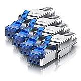 CSL - 4x Netzwerkstecker feldkonfektionierbar RJ45 CAT 6 CAT 7 CAT 8 - geschirmt 40 GBit/s 2000 MHz Ethernet werkzeuglos LAN Kabel - Crimpstecker Steckverbinder für Netzwerkkabel Verlegekabel