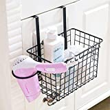 #8: Home Essentials Over Door Storage Basket with Hair Dryer Holder Drawer Cupboard Cabinet Hanging Spice Rack Kitchen Accessories - Random Color