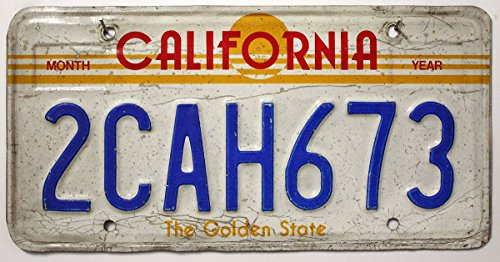 USA Nummernschild CALIFORNIA / The Golden State ~ US Kennzeichen Kalifornien ~ Blechschild / License Plate