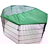 Easipet Metal Play Run for Dogs/Puppy/Rabbit/Guinea Pig/Cat in Black New (X Large With Cover)