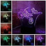 Tianyifengg 3D-LED-7 Farbe-Fernbedienung-Nachtlicht-kühlen Test Nachtlicht Schlafzimmer Lampe Hauptdekoration Kindertagesgeschenk