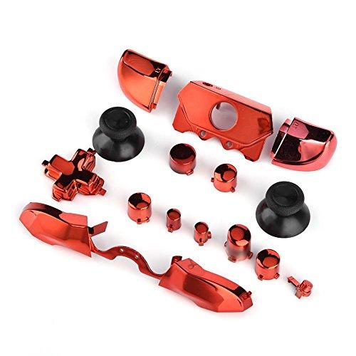 Mavis Laven Set di Pulsanti Completi per Xbox, RT/LT RB/LB Dpad Pulsanti ABXY Pulsanti di Avvio/Ritorno della sincronizzazione con Custodia per Xbox One Controller Jack da 3,5 mm(Rosso)