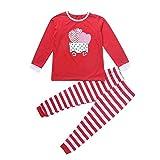Toamen Noël de vêtements Set, Garçons Filles manche longue Tops + Pantalon Mode Ensemble (5 Ans, Rouge C)