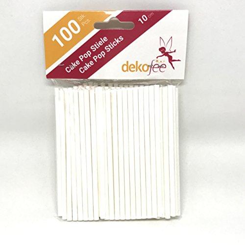dekofee Cake Pop Sticks 10cm (Papier, 100 Stück) Stick Pop