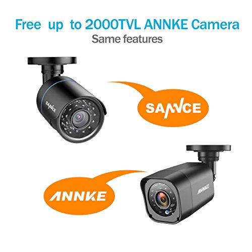 SANNCE-TVI-720P-Kits-de-4-cmaras-de-vigilancia-sistema-de-seguridadOnvif-H264-4CH-DVR-y-4-cmaras-10MP-IP66-Impermeable-IR-LED-1TB-Disco-duro-de-vigilancia