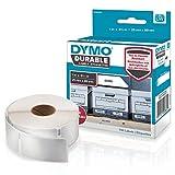 Dymo 1976200 LW Hochleistungs-Etiketten (für LabelWriter-Etikettendrucker, weißes Polyester, 25mm x 89mm) Rolle mit 100 Etiketten
