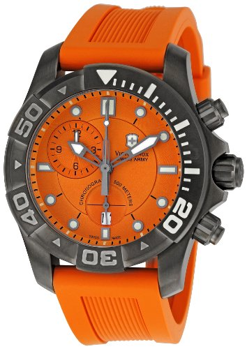 Victorinox 241423 - Orologio da polso da uomo, Gomma, colore: Arancione