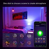 LE E27 Smart LED Birne, 9W Dimmbar, RGB + Warmweiß, 2700 Kelvin 850 Lumen Farbwechsel LED Leuchtmittel, Kompatibel mit Alexa (Echo, Echo Dot), Google Home und IFTTT Fernbedienung - 4