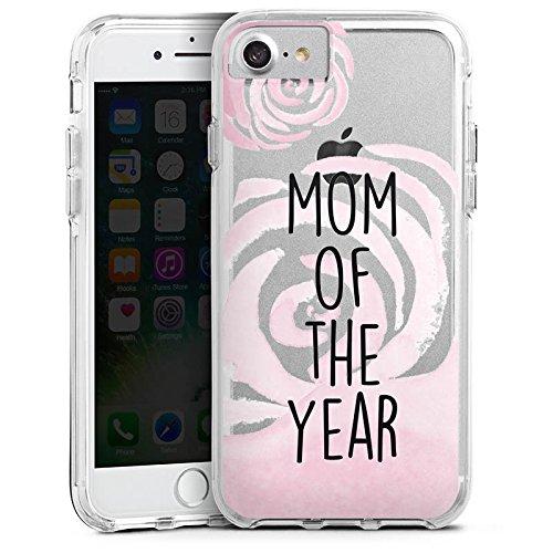 Apple iPhone 6 Bumper Hülle Bumper Case Glitzer Hülle Spruch ohne Hintergrund Mama Muttertag Bumper Case transparent