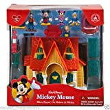 Walt Disney World MICKEY MOUSE Micro MAISON DE VILLE Toontown Jouer Figurine Set NOUVEAU