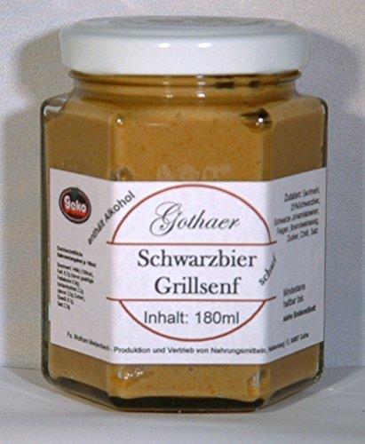 Origial-Senf im Sechseckglas a´180ml - OVP - in Varianten (Schwarzbier-Grillsenf)