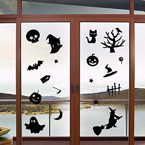 Ljtao Happy Halloween Haushaltszimmer Wandaufkleber Wandbild Decor Aufkleber Abnehmbare Neue Halloween Wandaufkleber Abnehmbare Wasserdichte Aufkleber