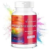 Methylcobalamin 5000mcg - Vitamin B12 - hochdosiert - 180 Tabletten - ! FÜR 6 MONATE ! - vegan