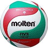 Top Wettspielball, superweiches Synthetik-Leder - Farbe: Weiß/Grün/Rot, Größe: 5