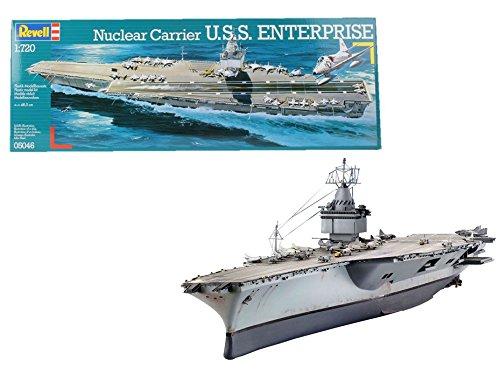 Revell- Nuclear Carrier Maqueta Portaaviones U.S.S. Enterprise, Modello, Escala 1:720 (5046) (05046), Multicolor