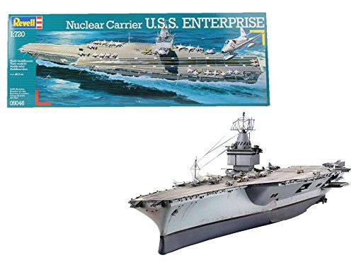Revell- Nuclear Carrier Maqueta Portaaviones U.S.S. Enterprise, Modello, Escala 1:720 (5046) (05046)