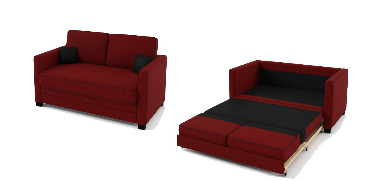 Fantastic Boom 2 Seater Sofa Bed In Fabric   9 Colours Available (Red):  Amazon.co.uk: Kitchen U0026 Home