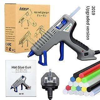 Astarye Hot Melt Glue Gun 35W Power Glue Gun Kit 20pcs Glue Sticks (5 Different Colors) for DIY, Craft, Sealing, Light and Heavy Duty, Arts & Home and Repairs(Blue)