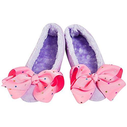 (Jojo Bögen Hausschuhe Unterschrift Sammlung Bögen Ballerina Oder Bootie Slipper-Beste Weihnachtsgeschenk Für Ihr Kleines Mädchen (5-6, Lila Ballerina Slipper))