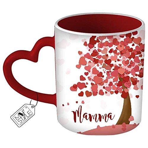 My custom style tazza cuore rosso # l'albero della mamma#