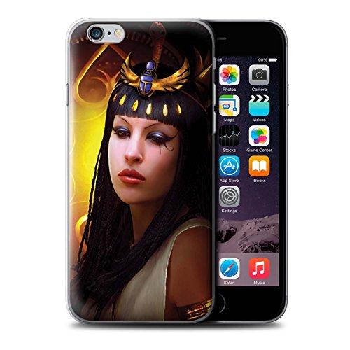 Officiel Elena Dudina Coque / Etui pour Apple iPhone 6 / Cleopatra/Serpent Doré Design / Les Animaux Collection Cleopatra/Serpent Doré