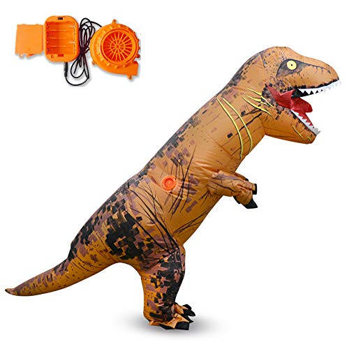 MIMI KING Tyrannosaurus Aufblasbares Kostüm T-Rex Cosplay, Halloween Dinosaurier Performance Kids