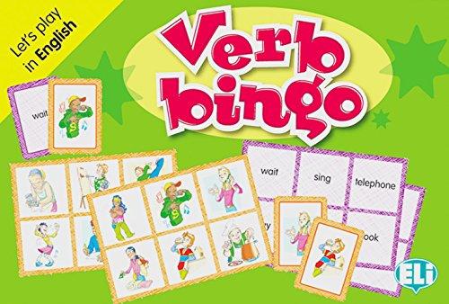Verb bingo: Let' s play in English. 66 Karten, 36 Spielbretter, Lehrerhandreichung (Bingo-karten Für Kinder)